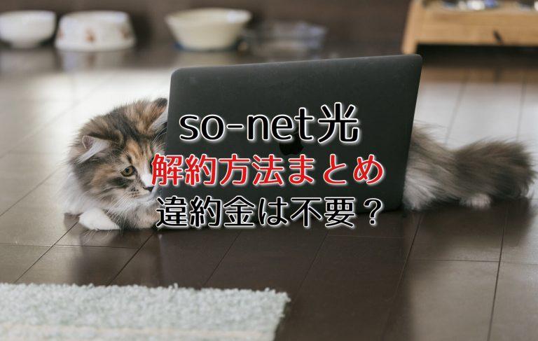 So-net光の損をしない退会・解約方法を解説!違約金は不要?