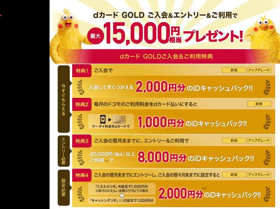 ゴールド d カード