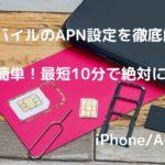 UQモバイルのAPN設定方法!iPhone/Android